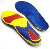 Spenco Ironman All Sport  Inlegzolen - Maat 42-44 (30cm)  geel/rood/blauw