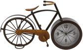Klok metaal 'fiets' - 35 cm