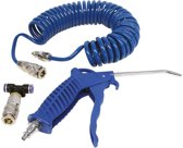 Carpoint Compressor Luchtpistool - Set met spiraalslang