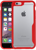 Focus Transparant Hard Cases voor iPhone 6 / 6s Rood