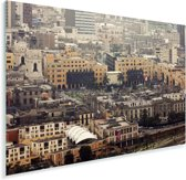 Luchtfoto van de gebouwen in Lima Plexiglas 60x40 cm - Foto print op Glas (Plexiglas wanddecoratie)