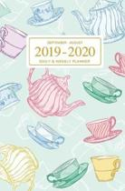September - August 2019 To 2020 Daily & Weekly Planner: Mini Student Calendar; Cute Tea Time Art