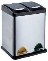protenrop pedaalemmer duo 30 liter 2 compartimenten. Black Bedroom Furniture Sets. Home Design Ideas