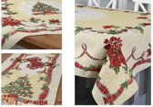 Kerstkleed-Gobelin-Ribbon - rechthoek 140 x 180 cm