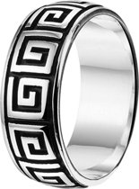 The Jewelry Collection For Men Ring Meander Oxi - Zilver