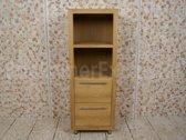 Houten badkamermeubel Sumbing Cabinet, hoogte 140 cm.