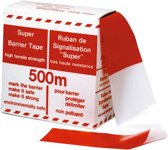 Afzetlint Rood/Wit 70mm. x 500mtr.