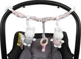 Autostoelspeeltje nijntje Pink Baby Rib