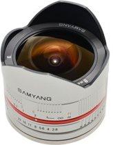Samyang 8mm F2.8 UMC Fisheye - geschikt voor Sony E - Zilver