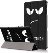 Samsung Galaxy Tab S4 hoesje - Smart Tri-Fold Case - Do Not Touch
