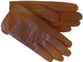 Laimböck Dames Handschoenen met Crocoprint Facha Rust Maat 8