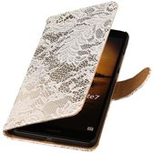 Microsoft Microsoft Lumia 535 Wit | Lace bookstyle / book case/ wallet case Hoes  | WN™