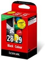 Lexmark 28 / 29 - Inktcartridge Zwart / Magenta / Geel / Cyaan