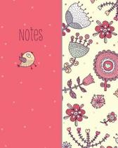 Notes, Bird and Flower, Notebook, Jotter, Note Pad, Journal