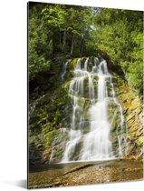Waterval in het Nationaal park Forillon in Canada Aluminium 60x90 cm - Foto print op Aluminium (metaal wanddecoratie)