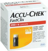 Accu Chek FastClix Lancetten, 200+4 stuks