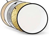 Godox reflectieschermen 5-in-1 Gold, Silver, Soft Gold, White, Translucent - 110cm