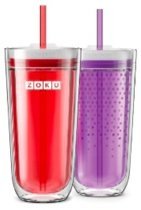 Zoku Hydration Drinkbeker - Incl Rietje - 325 ml - Paars