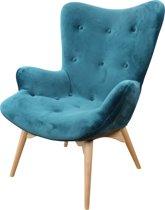 DS4U Zenie - velvet fauteuil - velours - petrol blauw