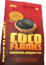 Coco Flames Barbecue Cocos Houtskool Briketten 4x 3 kg