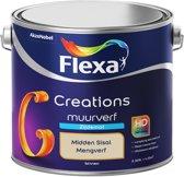 Flexa Creations - Muurverf Zijde Mat - Mengkleuren Collectie - Midden Sisal  - 2,5 liter