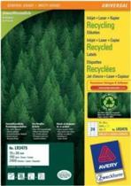 Avery printeretiketten Recycled universele etiketten, 70 x 36mm