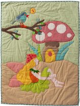 Quilt 90x120 fee en paddenstoel borduur
