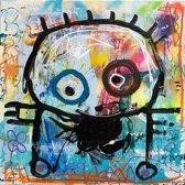Poul Pava - Doek Coloured Man - 120x120 cm