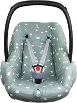 Briljant Baby Autostoelhoes interlock - stone green - spots - maat 0+