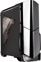 Thermaltake, Versa N21 Midi Gaming Case with USB3 12 cm Rear Fan Toolless - Black