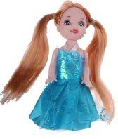 Eddy Toys Tienerpop Prinses Lichtbruin/blauw 9 Cm