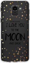 Design Backcover Samsung Galaxy J6 hoesje - Quote