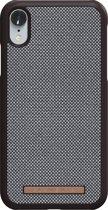 Nordic Elements Sif backcover voor Apple iPhone XR -  Bruingrijs / wit textiel