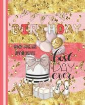 Happy Birthday, Best Day Ever, Birthday And Special Dates Reminder Organizer: Pink And Gold - Birthday Date Book Organizer - Special Event Calendar -
