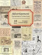 Advertisement Ephemera Collection: 18 sheets - over 140 old and antique Advertisements for DIY cards, junk journals and paper crafts