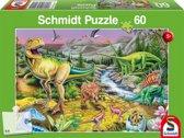 Puzzel de tijd van de dino's   - Kinderpuzzel - 60 Stukjes
