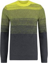 Purewhite Knitted Faded Crewneck Antra Yellow