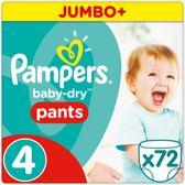 Pampers Baby-Dry Pants - Maat 4 (Maxi) 9-15 kg - 72 Stuks - Luierbroekjes