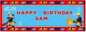 Personalised Banner Fireman Sam