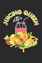 Juicing Queen: Juice Cocktail Summer Fruits ruled Notebook 6x9 Inches - 120 lined pages for notes, drawings, formulas - Organizer wri