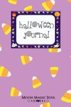 Halloween Candy Corn Journal: Fun Purple Notebook Diary College-Ruled