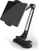 Universele iPad/Tablet/Smartphone Houder compatibel met bijna alle apparaten (van 4 tot 11 inch) 360° draaibaar Desktopstaander met zuignap multifunctioneel Auto/Keuken/Werkplaats/Badkamer