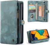 CASEME Luxe Leren Portemonnee hoesje voor de Samsung Galaxy A70 - blauw