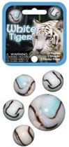 Witte tijger kleintje knikkers 21 stuks