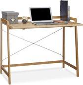 relaxdays - computertafel bamboe - computer bureau - pc-tafel - schrijftafel