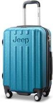 Jeep Makalu 55x35x23cm - Handbagage koffer - 4 Wielen - Aqua Blauw - TSA-slot