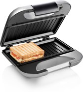 Princess 127003 Sandwichmaker Deluxe – Tosti-ijzer voor 2 tosti's – Grillplaten - Zilver