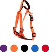Pets&Partner® - Hondentuig - Hondenharnas van nylon - voor kleine en grote honden - S - Orange