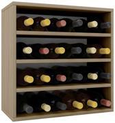 Wijnkast - Voor 24 flessen - eikenhout