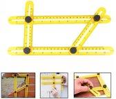 Angle-izer Meetinstrument en multi-hoeklineaal - Kunststof - Geel - Duimstok - Meetlat